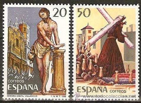 ESPAÑA NAVIDAD NUM. 2933/4 SERIE COMPLETA SIN FIJASELLOS (Sellos - España - Juan Carlos I - Desde 1.986 a 1.999 - Nuevos)