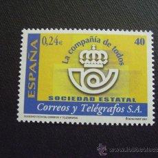 Sellos: ESPAÑA Nº EDIFIL 3815, Nº YVERT 3385*** AÑO 2001 CORREOS Y TELEGRAFOS. Lote 211811640