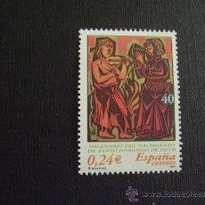 Sellos: ESPAÑA Nº EDIFIL 3817, Nº YVERT 3388*** AÑO 2001 MILENARIO NACIMIENTO SANTO DOMINGO DE SILOS. Lote 130639178