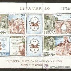 Sellos: ESPAÑA HOJITA ESPAMER 80 EDIFIL NUM. 2583 ** NUEVA SIN FIJASELLOS. Lote 155883446