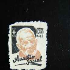 Sellos: SELLO AUXILIO SOCIAL 0,25 PTAS FALANGE GUERRA CIVIL.. Lote 32417656