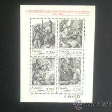 Sellos: IV CENTENARIO PUBLICACION EL QUIJOTE. AÑO 2005. 4161. Lote 32490581