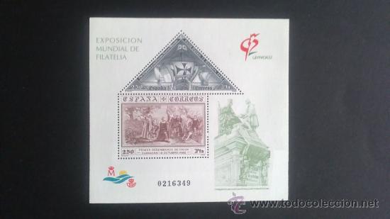 EXPOSICION MUNDIAL FILATELIA GRANADA 92. 3195 (Sellos - España - Juan Carlos I - Desde 1.986 a 1.999 - Nuevos)