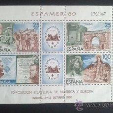 Sellos: ESPAMER 80 EXPOSICION FILATELICA AMERICA Y EUROPA 1980. 2579 - 2583. Lote 32490635