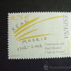 Sellos: ESPAÑA Nº EDIFIL 3880,*** AÑO 2002,FUTBOL,CENTENARIO REAL MADRID C.F.. Lote 214860468