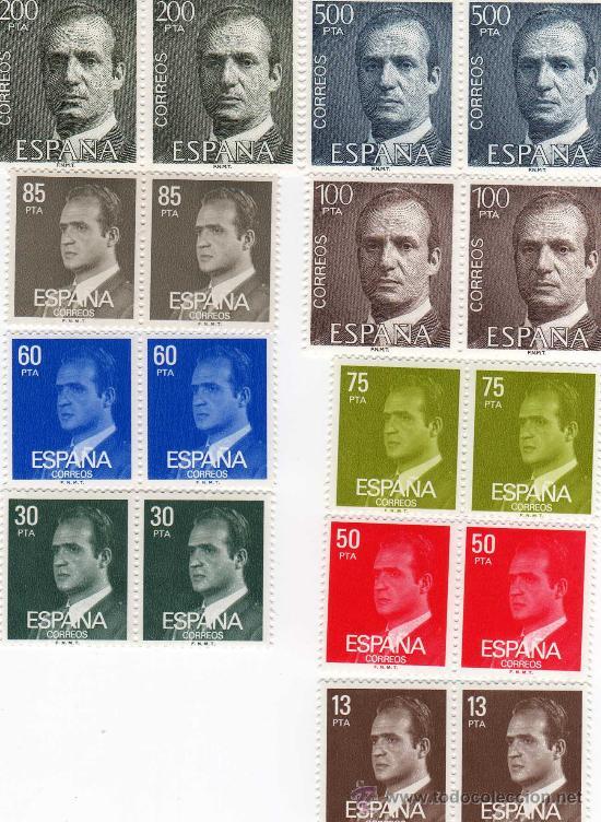 COMPLETA 9 VALORES, SELLOS DEL Nº 2599 AL Nº 2607 CATÁLOGO EDIFIL, 2 DE CADA, S.M. DON JUAN CARLOS I (Sellos - España - Juan Carlos I - Desde 1.975 a 1.985 - Nuevos)