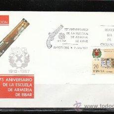 Sellos: 75 ANIVERSARIO DE LA ESCUELA DE ARMERIA DE EIBAR. Lote 33621190