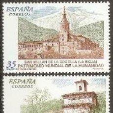 Sellos: ESPAÑA BIENES CULTURALES Y NATURALES EDIFIL NUM. 3662/3663 ** SERIE COMPLETA SIN FIJASELLOS. Lote 184515488