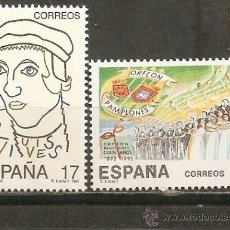 Selos: ESPAÑA EFEMERIDES EDIFIL NUM. 3224/3225 ** SERIE COMPLETA SIN FIJASELLOS. Lote 193806168