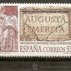 Selos: ESPAÑA PATRIMONIO DE LA HUMANIDAD MERIDA EDIFIL NUM. 3316 ** SERIE COMPLETA SIN FIJASELLOS. Lote 262503545