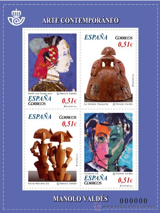ESPAÑA ARTE CONTEMPORANEO 2012 (Sellos - España - Juan Carlos I - Desde 2.000 - Nuevos)