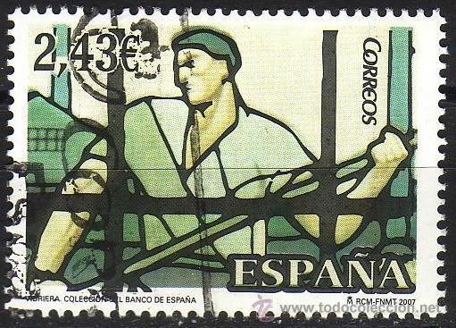 ESPAÑA. 2007. VIDRIERAS. EDIFIL SH 4359 (Sellos - España - Juan Carlos I - Desde 2.000 - Usados)