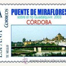 Sellos: PUENTES SOBRE EL GUADALQUIVIR - PUENTE MIRAFLORES - CORDOBA 2003. Lote 34397273