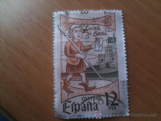 sello correo a pie siglo xiv - correos españa - - Comprar