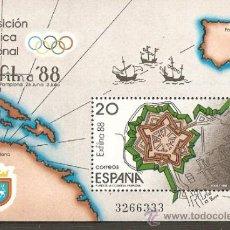 Sellos: ESPAÑA HOJITA EXPOSICION FILATELICA NACIONAL EDIFIL NUM. 2956 ** SIN FIJASELLOS. Lote 222637218