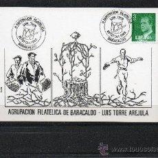 Sellos: TARJETA DE LA II EXPOSICION FILATELICA DE BARAKALDO DEDICADA AL CHITULARI LUIS TORRE AREJULA DE 1982. Lote 34958837