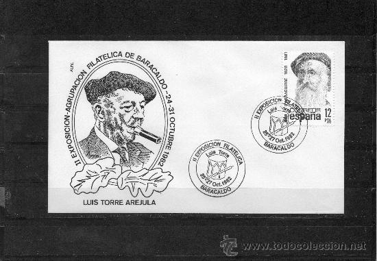 SOBRE Y MATASELLO DE LA II EXPOSICION FILATELICA DE BARAKALDO DEDICADA AL CHISTULARI LUIS TORRE AREJ (Sellos - España - Juan Carlos I - Desde 1.975 a 1.985 - Cartas)