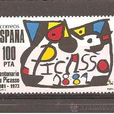 Sellos: ESPAÑA - CENTENARIO DE PICASSO 1981. Lote 35048257