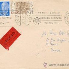 Sellos: SOBRE CON SELLOS - URGENTE - FRANCIA - MUY CURIOSO. Lote 35333408