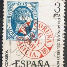 Sellos: 2318 3 PTA FECHADOR CORUÑA / DÍA MUNDIAL DEL SELLO. Lote 35677336