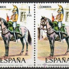Sellos: 2354 / NUEVO / BLOQUE DE DOS / 1 PTA TROMPETA DE ALCÁNTARA / UNIFORMES MILITARES.. Lote 35700513