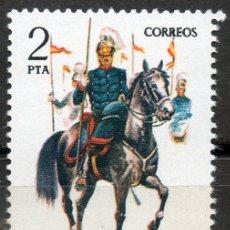 Sellos: 2424 / NUEVO / 2 PTA LANCEROS DE CABALLERÍA / UNIFORMES MILITARES.. Lote 35700714