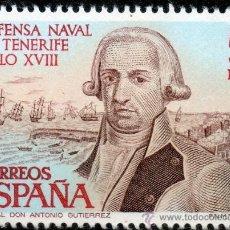 Sellos: 2536 / NUEVO / 5 PTA GENERAL DON ANTONIO GUTIÉRREZ / DEFENSA NAVAL DE TENERIFE.. Lote 35703243