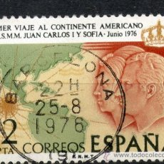 Sellos: 2370 / 12 PTA LOS REYES Y MAPA DE AMÉRICA / VIAJE A HISPANOAMÉRICA DE LOS REYES DE ESPAÑA.. Lote 35715616