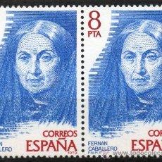 Sellos: 2513 / NUEVOS / BLOQUE DE DOS / 8 PTA FERNÁN CABALLERO / PERSONAJES ESPAÑOLES.. Lote 35759946