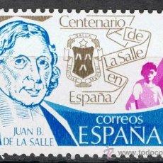 Sellos: 2511 / NUEVO / 5 PTA JUAN BAUTISTA DE LA SALLE / CENTENARIO DE LA SALLE.. Lote 35777802