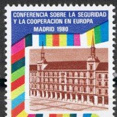 Sellos: 2592 / NUEVO / 22 PTA PLAZA MAYOR DE MADRID / CONFERENCIA SOBRE SEGURIDAD Y COOPERACIÓN EN EUROPA.. Lote 35784956