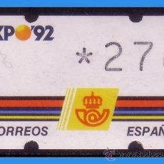 Sellos: 1992 ETIQUETA KLÜSSENDORF, EDIFIL Nº 2 * * 27 PTS, EXPO´92 (SEVILLA). Lote 35962465