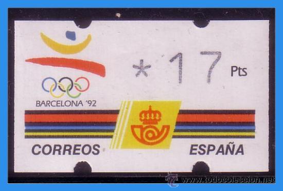 1992 ETIQUETA KLÜSSENDORF, EDIFIL Nº 4 * * 17 PTS, EXPO BARCELONA´92 (Sellos - España - Juan Carlos I - Desde 1.986 a 1.999 - Nuevos)