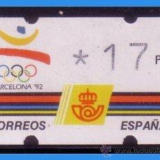 Sellos: 1992 ETIQUETA KLÜSSENDORF, EDIFIL Nº 4 * * 17 PTS, EXPO BARCELONA´92. Lote 35962892