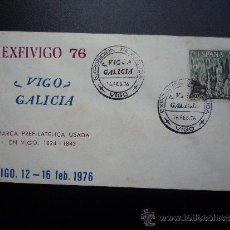 Sellos: ESPAÑA. SOBRE DE LA EXPOSICIÓN FILATÉLICA EXFIVIGO 76. Lote 36051066