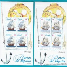 Sellos: ESPAÑA 1996, HOJITAS EDIFIL 3415 3416, BARCOS DE EPOCA, NUEVOS SIN FIJASELLOS. Lote 36124154