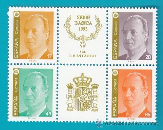 ESPAÑA 1993, EDIFIL 3259A 3260A 3261A Y 3262A, SM DON JUAN CARLOS , NUEVO SIN FIJASELLOS (Sellos - España - Juan Carlos I - Desde 2.000 - Nuevos)
