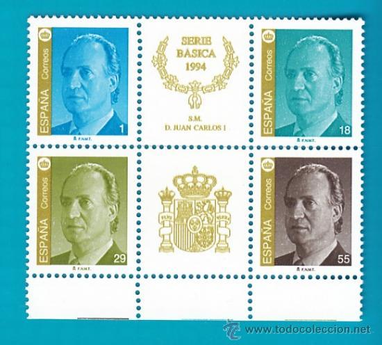 ESPAÑA 1994, EDIFIL 3305A 3306A 3607A Y 3608A, SM DON JUAN CARLOS I, NUEVO SIN FIJASELLOS (Sellos - España - Juan Carlos I - Desde 2.000 - Nuevos)