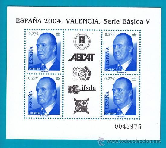 ESPAÑA 2004 EDIFIL 4088 HOJA BLOQUE JUAN CARLOS I, NUEVO SIN FIJASELLOS (Sellos - España - Juan Carlos I - Desde 2.000 - Nuevos)
