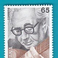 Sellos: ESPAÑA 1993, EDIFIL 3242, I CENTENARIO DEL NACIMIENTO DE ANDRES SEGOVIA, NUEVO SIN FIJASELLOS. Lote 36175643