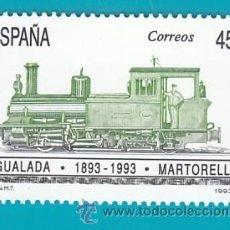 Sellos: ESPAÑA 1993, EDIFIL 3265, CENTENARIO DEL FERROCARRIL IGUALADA-MARTORELL, NUEVO SIN FIJASELLOS. Lote 36175765