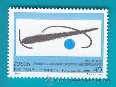 ESPAÑA 1993, EDIFIL 3250, EUROPA OBRAS DE JUAN MIRO (1893 - 1983), NUEVO SIN FIJASELLOS (Sellos - España - Juan Carlos I - Desde 1.986 a 1.999 - Nuevos)