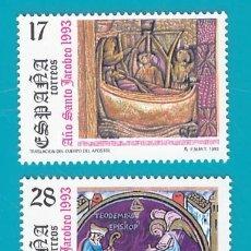 Sellos: ESPAÑA 1993, EDIFIL 3252 3253 3254, AÑO SANTO JACOBEO, NUEVO SIN FIJASELLOS. Lote 36176008
