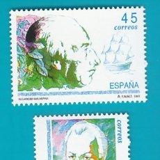 Sellos: ESPAÑA 1993, EDIFIL 3267 Y 3268, EXPLORADORES Y NAVEGANTES, NUEVO SIN FIJASELLOS. Lote 36176237