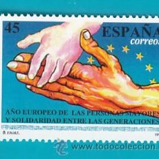 Sellos: ESPAÑA 1993, EDIFIL 3272, AÑO EUROPEO DE LAS PERSONAS MAYORES, NUEVO SIN FIJASELLOS. Lote 36176417