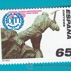 Sellos: ESPAÑA 1994, EDIFIL 3288, 75 ANIVERSARIO DE LA CREACION OFICINA TRABAJO, NUEVO SIN FIJASELLOS. Lote 36176467