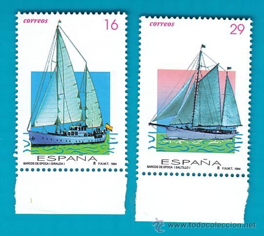 ESPAÑA 1994, EDIFIL 3314 Y 3315, BARCOS DE EPOCA, NUEVO SIN FIJASELLOS (Sellos - España - Juan Carlos I - Desde 1.986 a 1.999 - Nuevos)