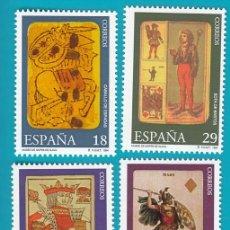 Sellos: ESPAÑA 1994, EDIFIL 3317 AL 3320, MUSEO DE NAIPES, NUEVO SIN FIJASELLOS. Lote 36177216