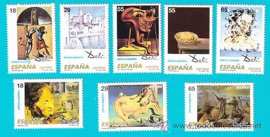 ESPAÑA 1994, EDIFIL 3289 AL 3296, PINTURA ESPAÑOLA, OBRAS DE SALVADOR DALI, NUEVO SIN FIJASELLOS (Sellos - España - Juan Carlos I - Desde 1.986 a 1.999 - Nuevos)