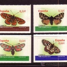 Sellos: ESPAÑA 4533/36*** - AÑO 2010 - FAUNA - MARIPOSAS. Lote 112844832